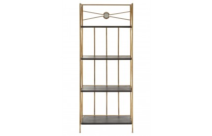 Scenic Folding Shelf Unit Black / Gold Metal 4 Tiers
