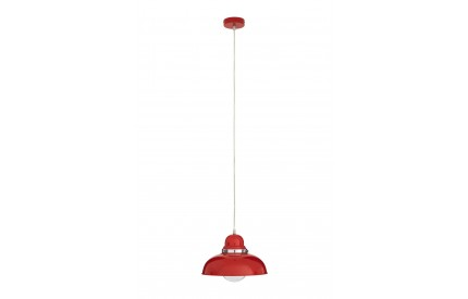 Martino Pendant Light Red/Chrome