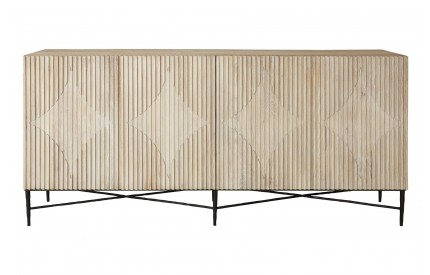 Kyra Contemporary Grey Sideboard Solid White Elm
