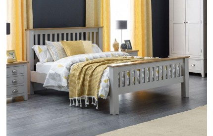 Richmond Solid Oak Bed in Elephant Grey
