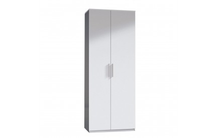 Pacific Wardrobe 2 Door High Shine White