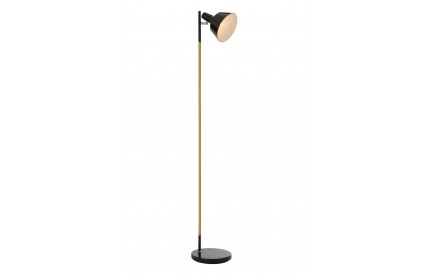 Ryan Floor Lamp Wood / Metal Black