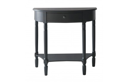 Anchor Console Table Half Moon / Black 1 Drawer