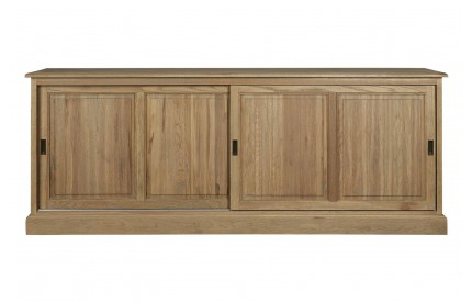 Martins Sliding Door Sideboard Solid Aged Oak