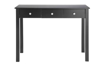 Florence 3 Drawer Dressing Table Black
