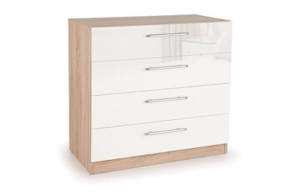Moore High Gloss 4 Drawer Chest