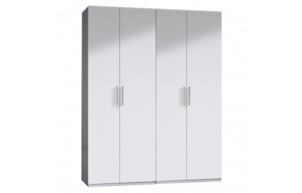 Pacific Wardrobe 4 Door High Shine White