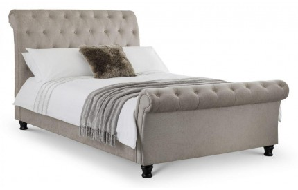 Ravello Mink Chenille Fabric Bed