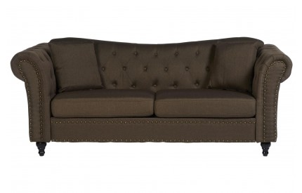 Fargo Chesterfield Sofa Natural Fabric / 3 Seat Stud Detail