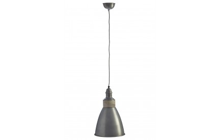 Norway Pendant Light Iron / Wood Zinc Finish