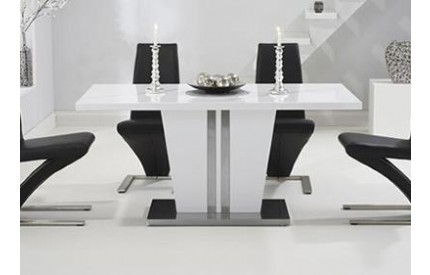 Costa Dining Table White Stainless Steel