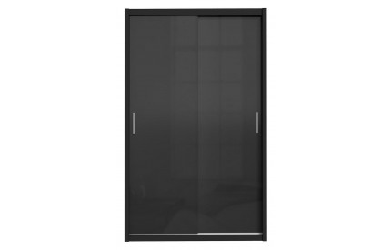 Topper Sliding 2 Door Wardrobe High Gloss Black