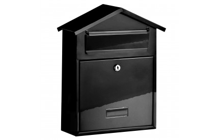 Heavy Duty Black Galvanised Letterbox