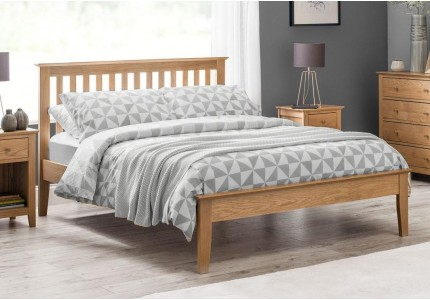 Salerno Shaker Bed Solid Solid Oak