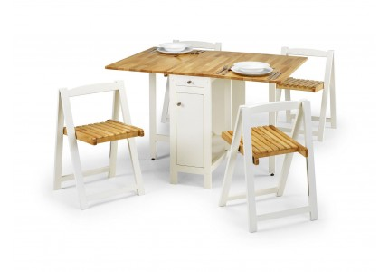 Julian Bowen Savoy Dining Set - White/Natural