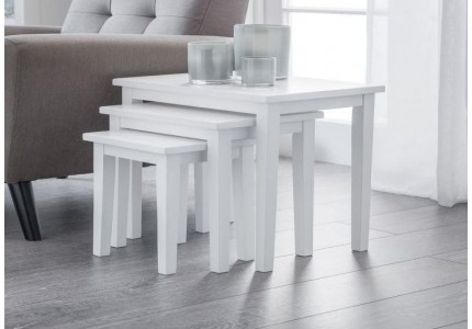 White Nest of Tables - Pure White Finish