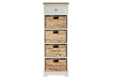 Alps Grey Chest of Drawers + 4 Baskets