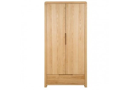 Curve 2 Door 1 Drawer Wardrobe