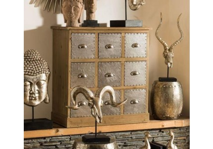 Shoreditch Steel & Wood Chest of Drawers