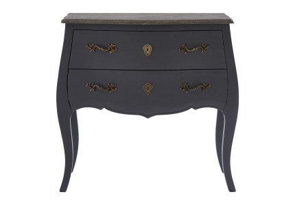 French Dark Grey Contemporary Chest of Drawers