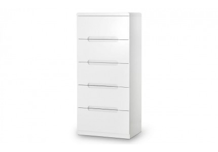 Manhattan 5 Drawer Narrow Chest of Drawers