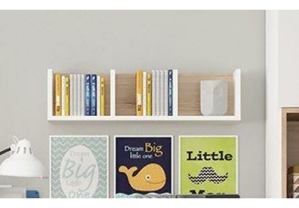 4KIDS Wall Shelf Oak High Gloss White