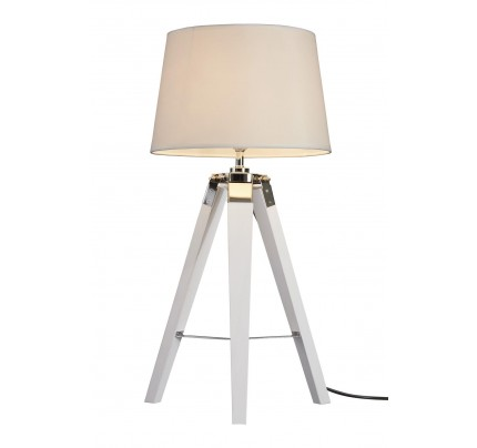 Bailey Table Lamp Tripod / White