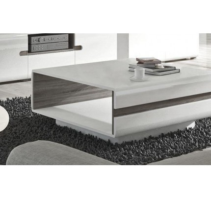 Chelsea Living Coffee Table White Gloss Oak