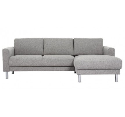Cleveland Chaiselongue Sofa (RH) in Nova Light Grey