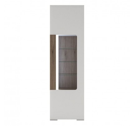 Toronto Tall Narrow Glazed Display Cabinet