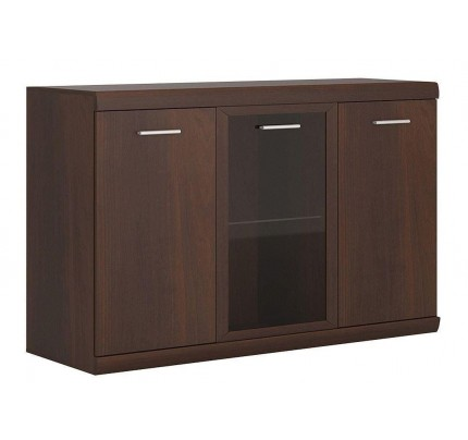 Imperial 3 Door Glazed Sideboard Dark Mahogany