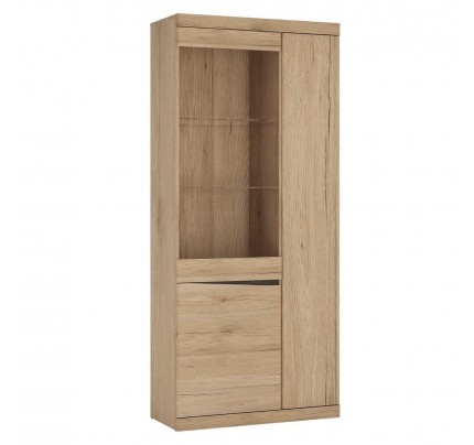 Kensington Tall 3 Door Display Cabinet Oak