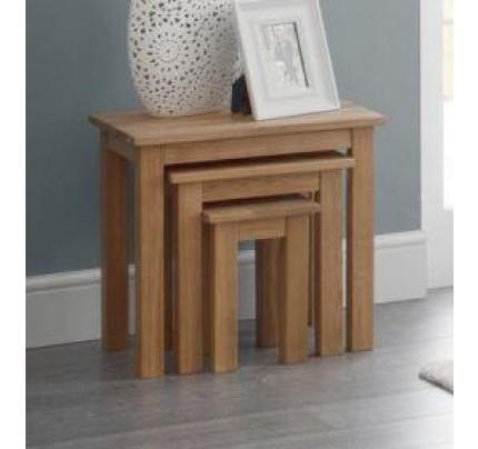 Coxmoor Oak Nest of 3 Tables