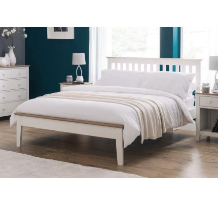 Salerno Shaker Bed Solid Oak Two Tone Ivory