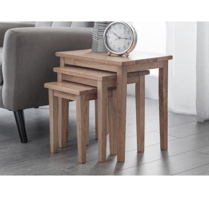 Cleo Nest of Tables - Natural Oak Finish