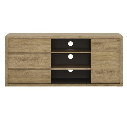 Shetland 1 Door 3 Drawer TV Cabinet