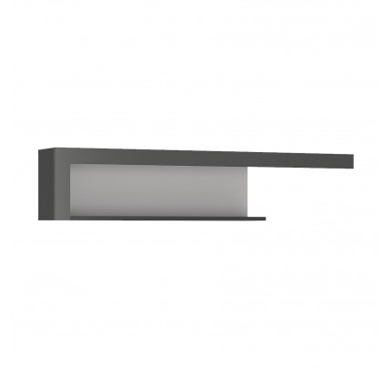 Lyon 130cm Wall Shelf Grey Gloss