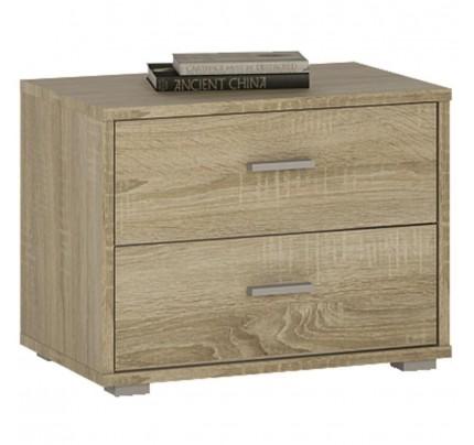 4 You 2 Drawer Low Bedside Sonama Oak