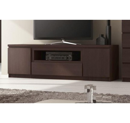 Pello 136cm 2 Door 1 Drawer TV Cabinet Mahogany