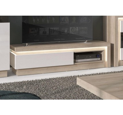 Lyon 1 Drawer TV Cabinet White High Gloss