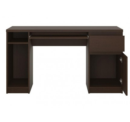 Pello Twin Pedestal Desk Dark Mahogany