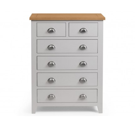 Richmond 4+2 Drawer Chest of Drawers Grey