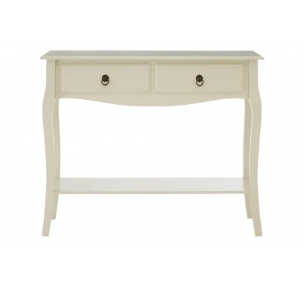 Sorrento Console Table 2 Drawers / Ivory MDF