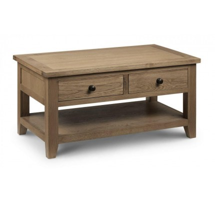 Astoria Coffee Table With 2 Drawers Assembled