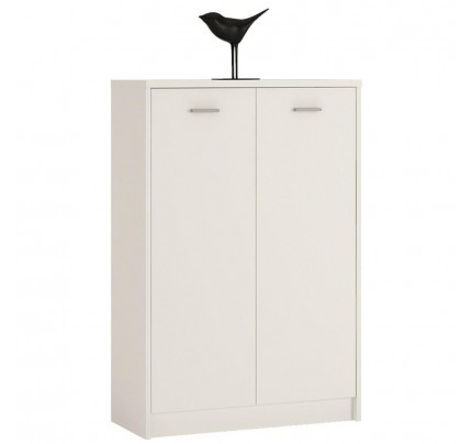 4 You Tall 2 Door Cupboard in Pearl White