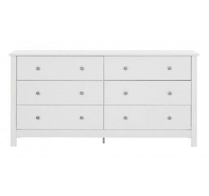 Florence 3+3 Drawer Chest White