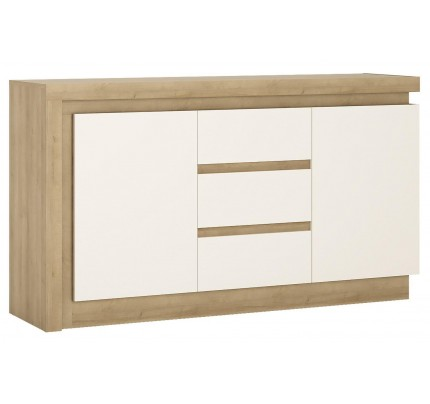 Lyon 2 Door 3 Drawer Sideboard White Gloss