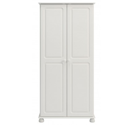 Copenhagen 2 Door 2 Drawer Wardrobe White