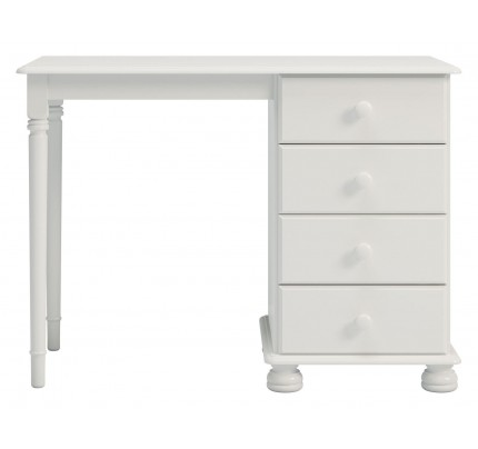 Copenhagen Single Dressing Table White