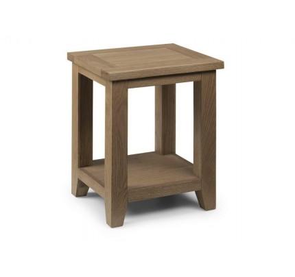 Astoria Chunky Oak Lamp Table Assembled